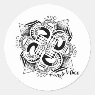 Funky Vibes Round Sticker
