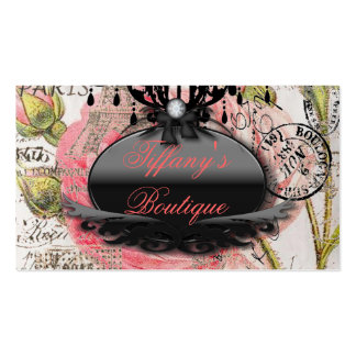Funky Vintage Fashion Boutique Business Cards