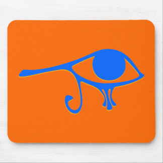 Funky Wadjet Blue Gold Mouse Pad