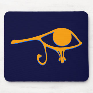 Funky Wadjet Gold Blue Mouse Pad