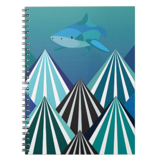 Funky Water Mountains.jpg Spiral Notebooks