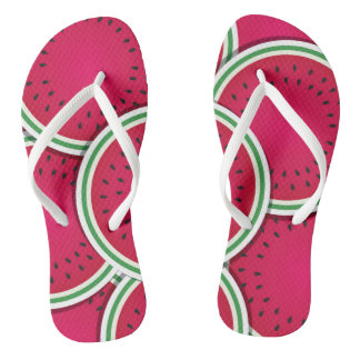 Funky watermelon slices thongs