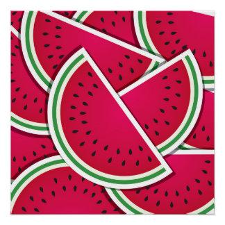 Funky watermelon wedges