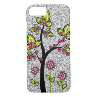 Funky Whimsical Artsy Modern Vector iPhone 7 Case