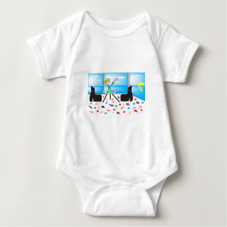 Funky Whimsical Colorful Miami, Graphic Baby Bodysuit