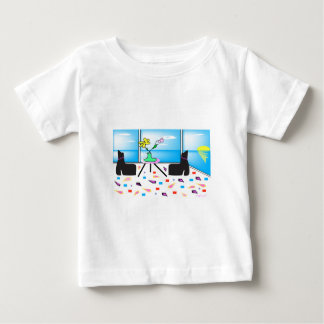 Funky Whimsical Colorful Miami, Graphic Baby T-Shirt