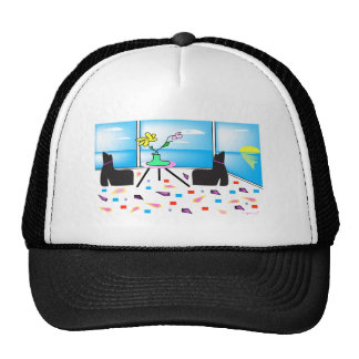 Funky Whimsical Colorful Miami, Graphic Cap