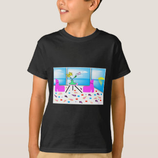 Funky Whimsical Colorful Miami, Graphic T-Shirt