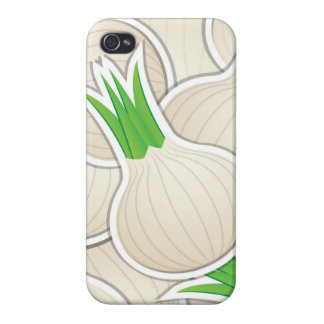 Funky white onions covers for iPhone 4