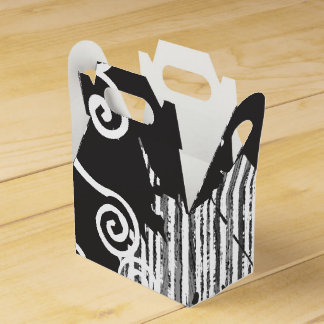Funky Wild Black and White Favour Box