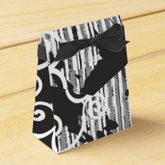 Funky Wild Black and White Favor Boxes