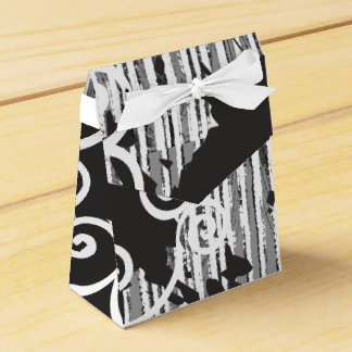 Funky Wild Black and White Favour Boxes