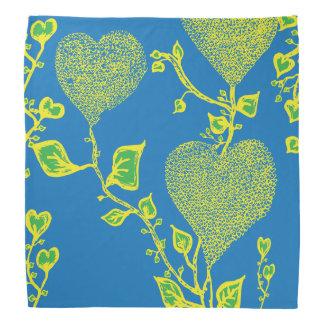 Funky & wild hearts(bandana with vibrant colours) bandana