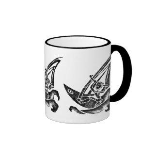 Funky Windsurfer Ringer Mug