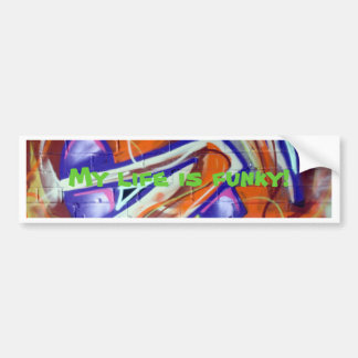 funky world graffiti designs and slogans bumper sticker