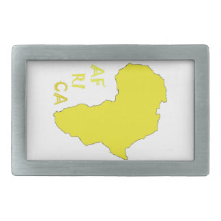 Funky Yellow Africa Map Belt Buckles