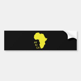 Funky Yellow Africa Map Bumper Sticker