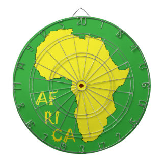Funky Yellow Africa Map Dartboard