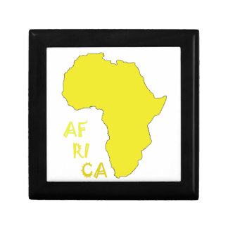 Funky Yellow Africa Map Gift Box
