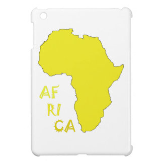 Funky Yellow Africa Map iPad Mini Cover