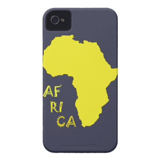 Funky Yellow Africa Map iPhone 4 Case