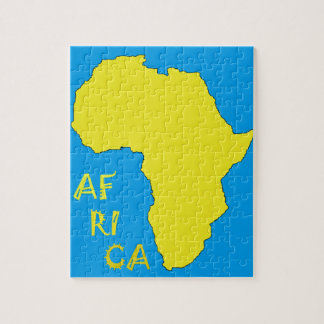 Funky Yellow Africa Map Jigsaw Puzzle