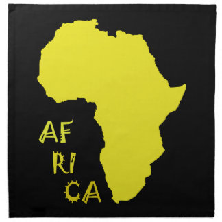 Funky Yellow Africa Map Napkin