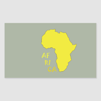 Funky Yellow Africa Map Rectangular Sticker