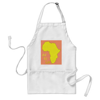 Funky Yellow Africa Map Standard Apron