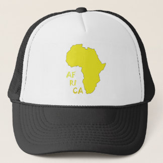 Funky Yellow Africa Map Trucker Hat