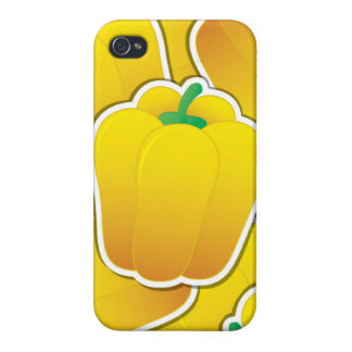 Funky yellow pepper case for iPhone 4