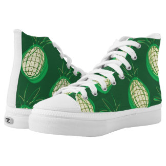 Funky yellow pineapples high tops