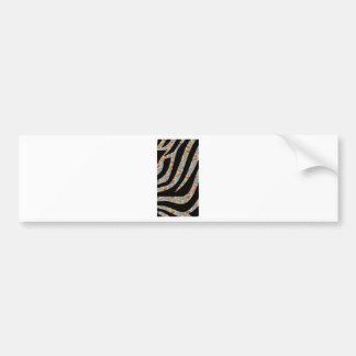 Funky Zebra Bumper Sticker