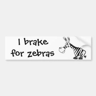 Funky Zebra Cartoon Bumper Sticker