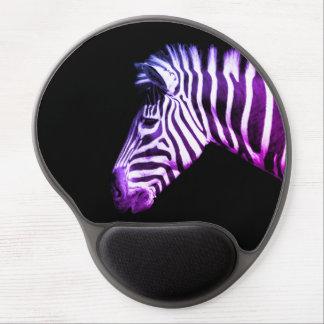 Funky Zebra Portrait Gel Mouse Pad