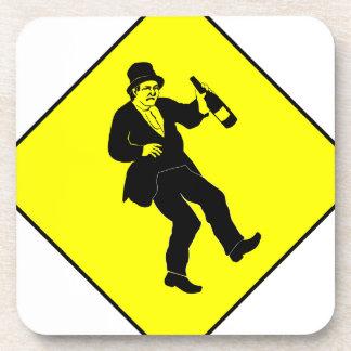 Funn Drunk Man Sign Coaster