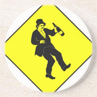 Funn Drunk Man Sign Coasters