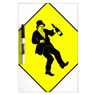 Funn Drunk Man Sign Dry-Erase Whiteboards