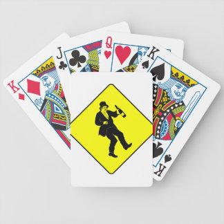 Funn Drunk Man Sign Poker Deck