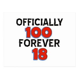 FUNNY 100 year birthday designs Postcard