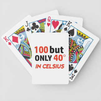 Funny 100th birthday design bicycle playing cards