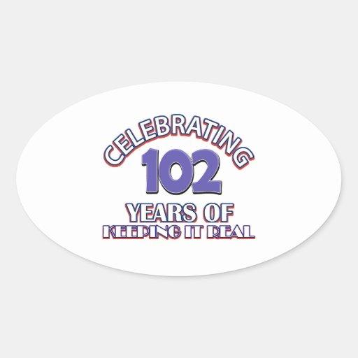Funny 102ND birthday designs Stickers