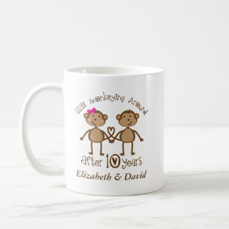 Funny 10th Wedding Anniversary His Hers Mugs