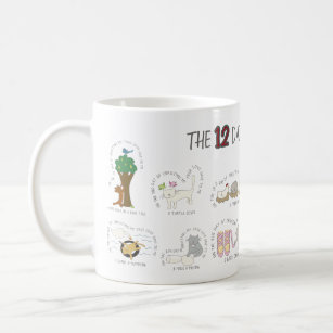 Funny 12 Days of Catmas Christmas Cats Coffee Mug