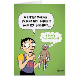 Funny 12th Birthday Card