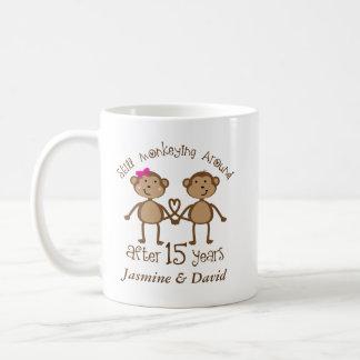 Funny 15th Wedding Anniversary His Hers Mugs