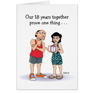 Funny 18th Anniversary Love Card