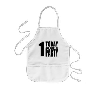 Funny 1st Birthdays : 1 Today and Ready to Party Kids Apron