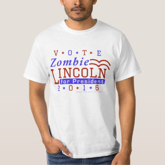 Funny 2016 Election Parody Zombie Lincoln T-Shirt