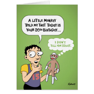 Funny 20th Birthday Card